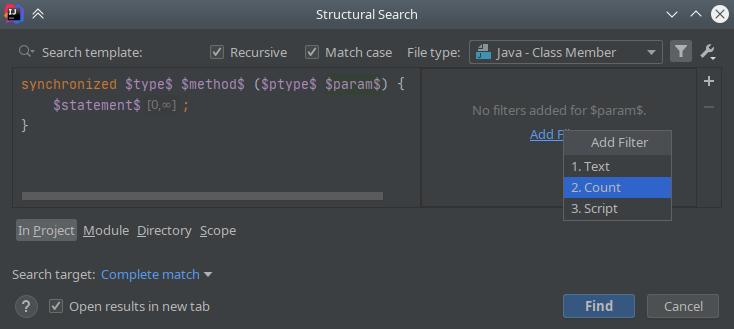 IntelliJ IDEA: Structural Search & Replace - 5