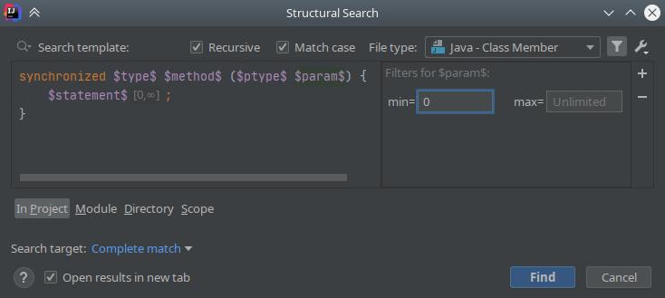 IntelliJ IDEA: Structural Search & Replace - 6