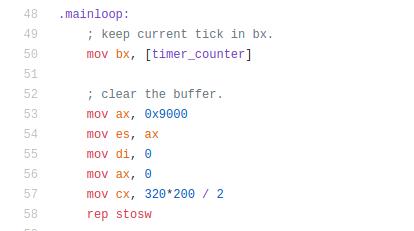 TreeOS. 16-битная рождественская демка в загрузочном секторе - 11
