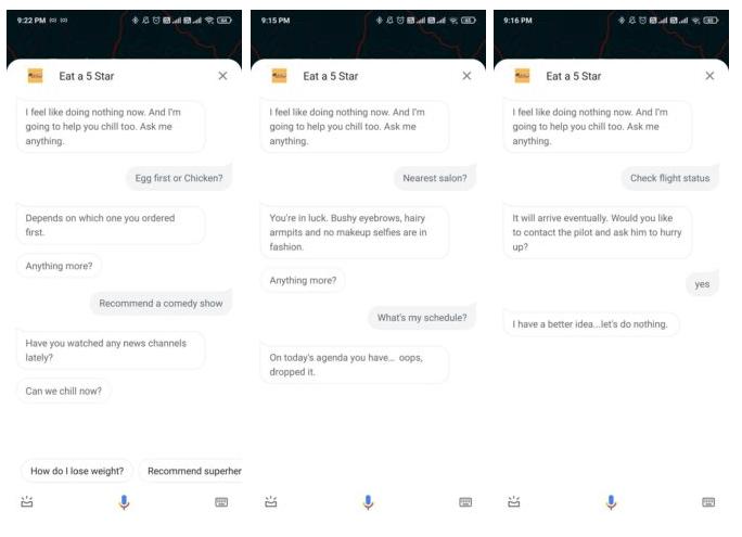 В режиме «Ничего не делать» Google Assistant предлагает побездельничать во имя шоколада