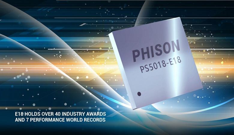 Начались поставки контроллеров Phison E18, поддерживающих 176-слойную память NAND