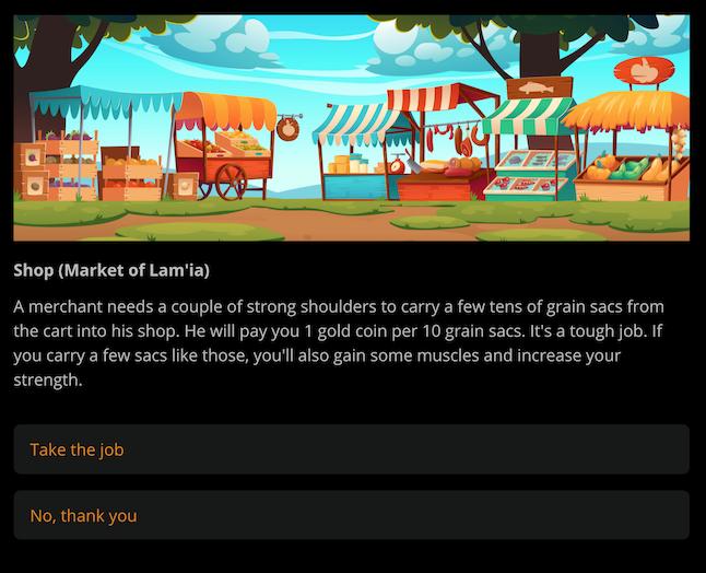 Скриншот одного из сайд-квестов игры