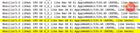 Apple / iOS 6.0 и WebKit 535.8 засветились в сети