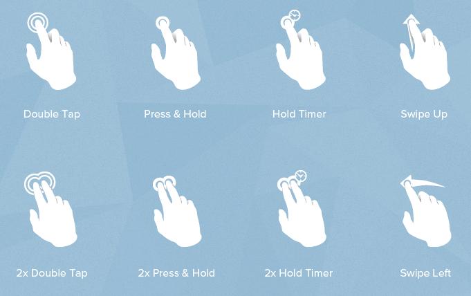 30 бесплатных пиктограмм жестов для мультитач устройств