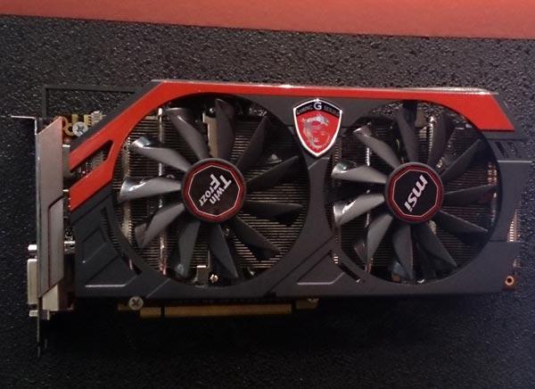 В конфигурацию 3D-карты MSI GeForce GTX 780 Gaming входит 3 ГБ памяти GDDR5
