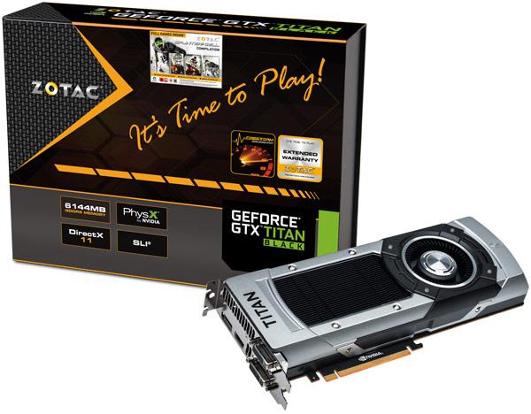 Zotac представила 3D-карты серии GeForce GTX 750 и флагманскую модель GeForce GTX Titan Black