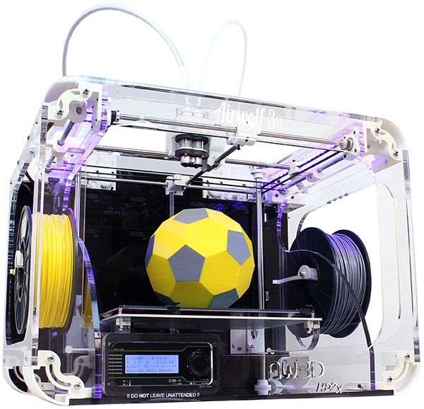Размеры области печати 3D-принтера Airwolf 3D HD2x примерно равны 28 х 20 х 30 см