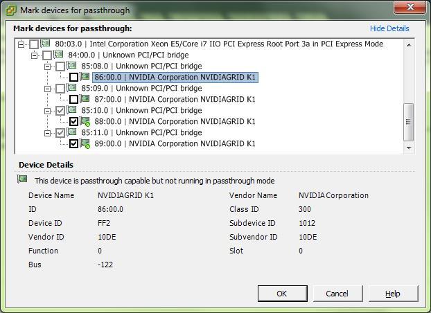 Гипервизор ESXi определяет видеокарту