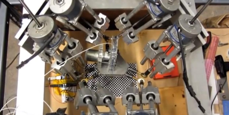 6 осевой 3D принтер творит маленькие чудеса