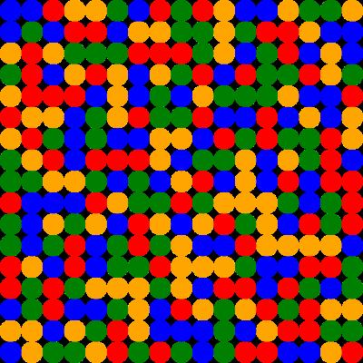 Алгоритмы / Раскраска матрицы 17х17 четырьмя цветами без монохроматических прямоугольников