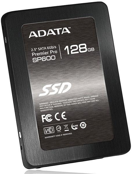 Твердотельные накопители ADATA Premier Pro SP600 оснащены интерфейсом SATA 6 Гбит/с