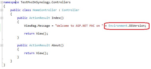 ASP.NET MVC 3 сервер на NAS Synology — solution