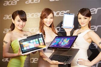 В первом квартале 2013 года доля сенсорных моделей в общем объеме поставок ноутбуков Acer составила 12%