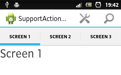 ActionBar на Android 2.1+ с помощью Support Library. Часть 2 — Навигация