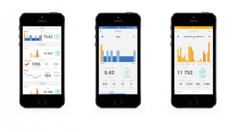 The Withings Health Mate mobile app pairs with the Activité and is used to set up activiti...