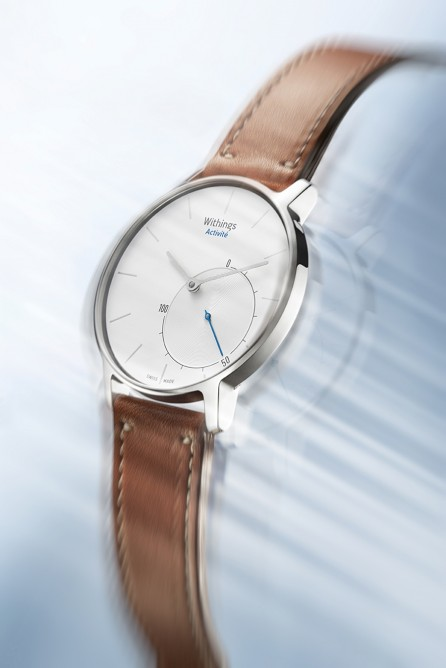The Activité features a classic round face and traditional analog watch arms