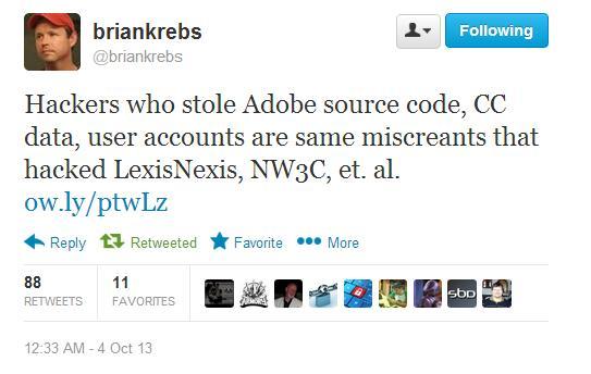 Adobe hacked, 3 млн. аккаунтов скомпрометированы