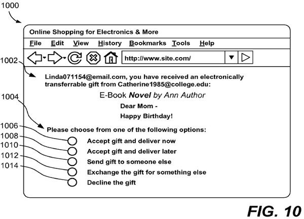 Amazon патентует «цифровые подарки»