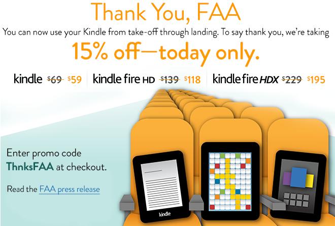 Amazon празднует FAA с распродажей планшетов Kindle