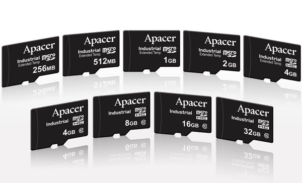 Карточки памяти Apacer рассчитаны на расширенный диапазон рабочих температур — от -40°C до +85°C
