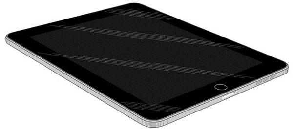 В заявке описан планшет, в оформлении которого используется черный и серый цвета