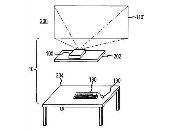 Apple патентует компьютер с беспроводной зарядкой и проектором вместо монитора