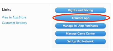 Apple предоставила возможность передавать приложения от одного разработчика другому