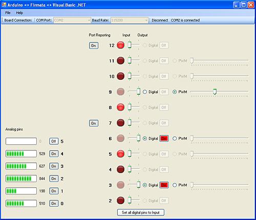 Arduino <> Firmata <> Visual Basic .NET