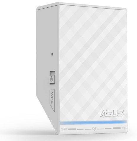 Габариты устройства Asus RP-N53, соответствующего спецификациям IEEE 802.11 a/b/g/n, равны 4,5 x 3,1 x 8,5 см