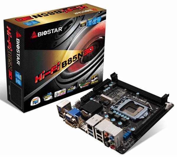 Важной особенностью платы Biostar Hi-Fi B85N 3D является использование фирменной технологии улучшения звука Biostar Hi-Fi 3D