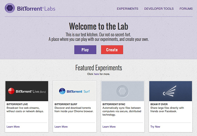 Welcome to BitTorrent Labs