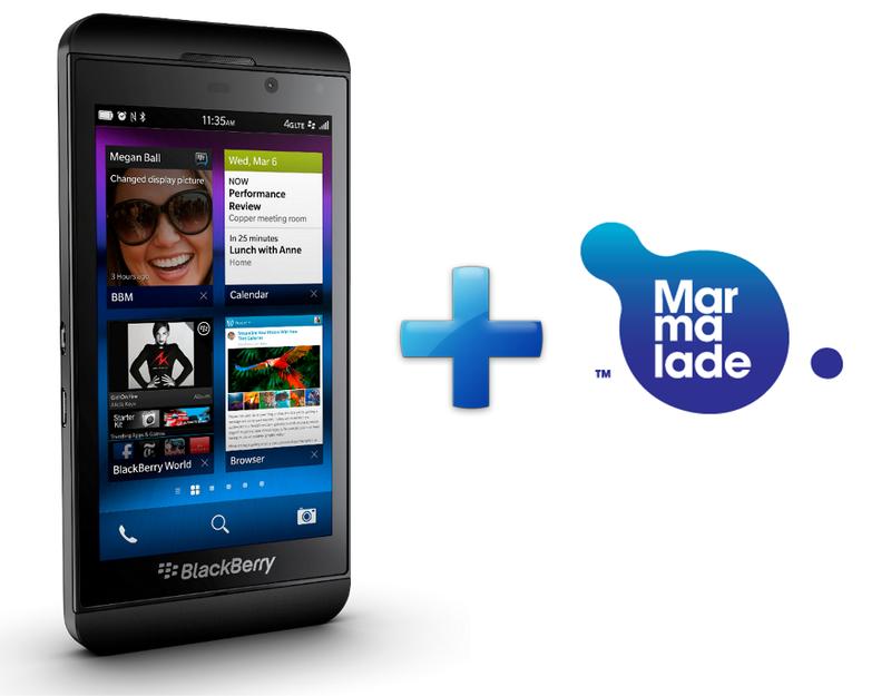 BlackBerry 10 + бесплатный Marmalade SDK