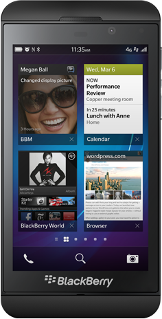 BlackBerry 10, BlackBerry Z10, BlackBerry Q10