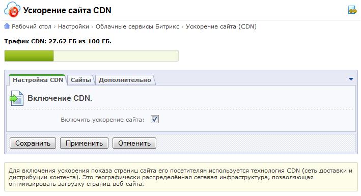 CDN для 70 000 сайтов одной кнопкой