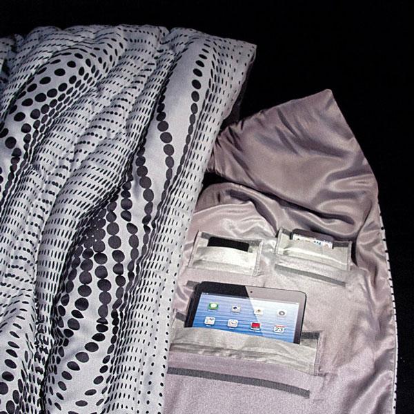 Балахон CHBL Jammer Coat сшит из ткани с металлизацией