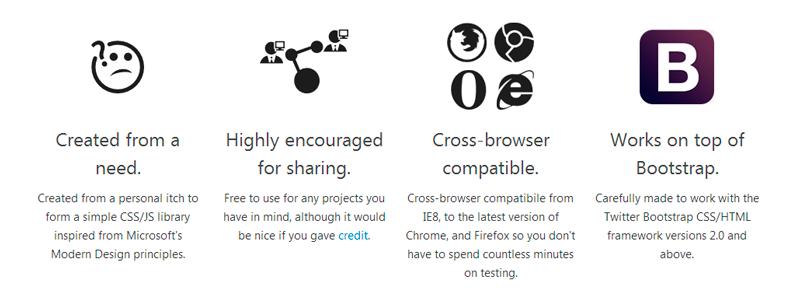 CSS кнопки в стиле Windows 8, совместимые с Twitter Bootstrap