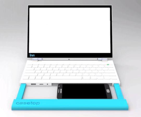 Casetop превратит любой смартфон в ноутбук/нетбук