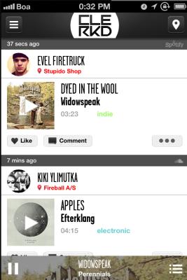 Clerkd — простой способ искать, слушать и делиться музыкой на iOS