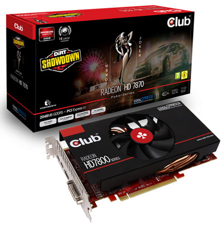 Club 3D комплектует 3D-карту Radeon HD 7870 jokerCard игрой DiRT Showdown
