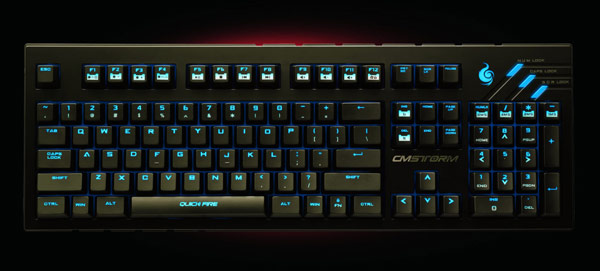 В клавиатуре Cooler Master CM Storm QuickFire Ultimate используются механические клавиши Cherry MX