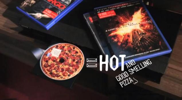 DVD с запахом пиццы!
