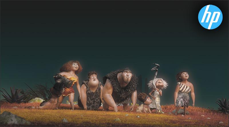 DreamWorks и HP: создание «Семейки Крудс»