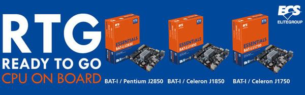 Системные платы ECS на однокристальных системах Intel Bay Trail-D выполнены в типоразмере Mini-ITX
