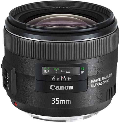 Рекомендованная цена объектива Canon EF 35mm f/2 IS USM в США — 850 долларов