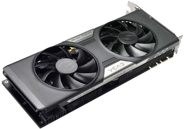 В охладителе 3D-карты EVGA GeForce GTX 780 используются вентиляторы с двойными подшипниками качения
