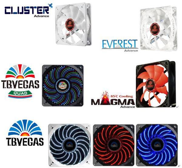 Новые вентиляторы Enermax серий Cluster Advance, Everest Advance, Magma Advance, T.B.Vegas Quad и T.B.Vegas имеют типоразмер 120 мм