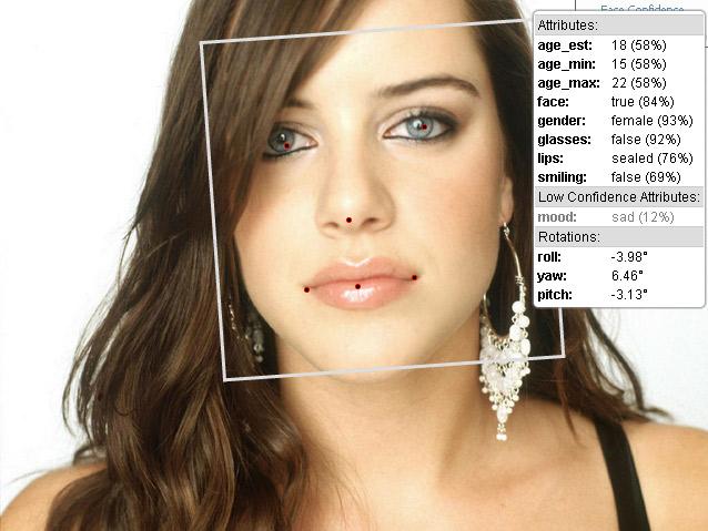 Face.com API определяет возраст по фотографии