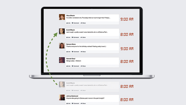 Facebook накормит юзеров непросмотренными новостями